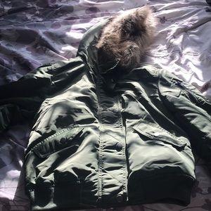 Winter bomber coat